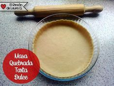 Receta Masa Quebrada para Tarta dulce | Cocinar en casa es facilisimo.com Cupcakes, Food Styling, Latte, Baking, Recipes, Sweetest Thing, Quiches, Pie, Dessert