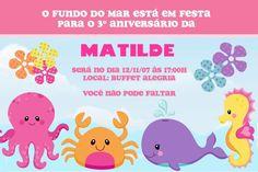 Convite digital personalizado Fundo do Mar 006