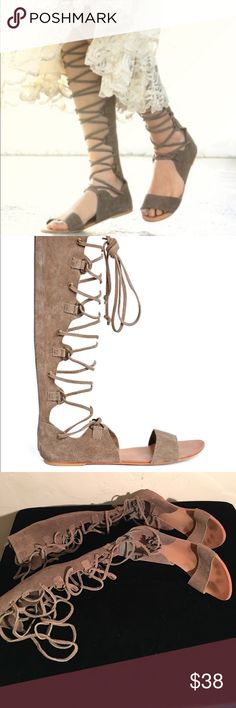 FREE PEOPLE GLADIATOR DECIBLE LEATHER SANDALS 9 PREOWNED GOID CONDITION. SEE ALL PHOTOS. SIZE 9 M FREE PEOPLE Shoes Sandals