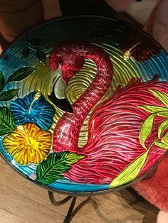 FLAMINGO~Flamingo table at Cracker Barrel