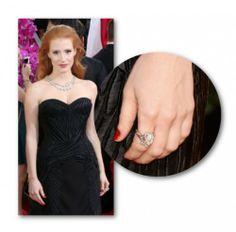 Κλασσικό κόκκινο επέλεξε η Jessica Chastain για το μανικιούρ της και το ταίριαξε ιδανικά με τη μαύρη Givenchy τουαλέτα της. #GoldenGlobes #manicure