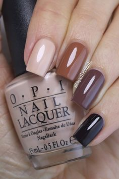 Hiya Dolls! Happy Fri-yay! I have a beige ombre/skittle mani to share with you today using four shades from the OPI Washington DC Col...