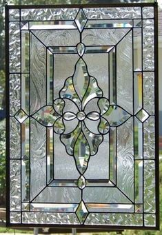 stained glass window hanging by Stained Glass Door, Leaded Glass Windows, Stained Glass Designs, Stained Glass Panels, Stained Glass Projects, Stained Glass Patterns, Window Glass, Beveled Glass, Mosaic Glass