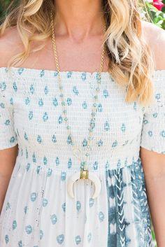 Alexandra Gioia Crescent Horn Necklace + Jen's Pirate Booty Maxi Dress