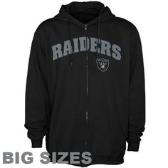 NFL Oakland Raiders Big Sizes Full-Zip Hoodie - Black (XXX-Large) Football Fanatics. $69.95