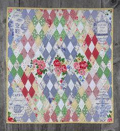 Brit Quilt Swap#3 Summery Diamonds finished | by Cottilello