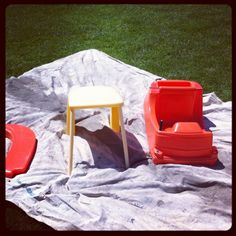Step 1: How to Paint a Little Tykes Cozy Coupe.