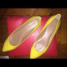 Flats Yellow comfortable flats by banana republic used but like new Banana Republic Shoes Flats & Loafers