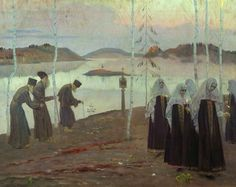 Mikhail Nesterov Hermit fathers and Immaculate Women