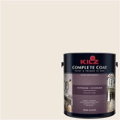 Kilz Complete Coat Interior/Exterior Paint & Primer in One #LJ240 Himalaya, 1 gal, Flat, White
