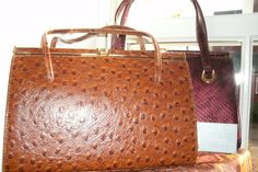 Vintage Ostritch Skin Handbag by Deliasvintage on Etsy, £59.99