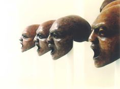 Thanos Vovolis Masks used in Greek theater