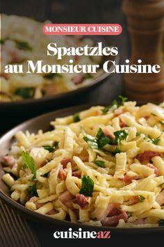 Les spaetzles sont des pâtes alsaciennes qu'il est possible de réaliser rapidement et facilement avec cette recette au Monsieur Cuisine.  #recette#cuisine#pates#spaetzles #robotculinaire #MonsieurCuisine