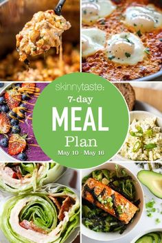 Diet Recipes, Cooking Recipes, Healthy Recipes, Diabetic Recipes, Healthy Meals, Weight Loss Meal Plan, Weight Watchers Meals, Pb And J Smoothie, 7 Day Meal Plan