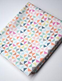 pinwheels  - pastel fabric - fat quarter - triangle fabric - geometric fabric. $9.00, via Etsy.