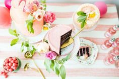 pops of pink and citrus for your dessert table | styled by the house that lars built for BHLDN