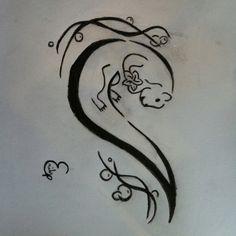 Tattoo design otter