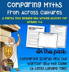 """Greek Mythology and Native American legends may seem like the two very different genres, with little to no similarities, but you'd be wrong!  This project asks students to compare myths and legends from two very different cultures, finding both the similarities and differences. Through this common core linked project, students will read two myths, one about the Myth Icarus, and the other a Lenni Lenape legend called, """"The Warrior and the Eagle."""""""