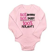 Pink 100 Percent Perfect Long Sleeve Infant Bodysu> Girl Stuff Long Sleeve Baby Bodysuits> peacockcards.com