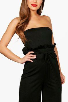 861b8c79373 Boohoo Boutique Paper Bag Waist Bandeau Jumpsuit Size UK 8 rrp 20 DH180 ii  09
