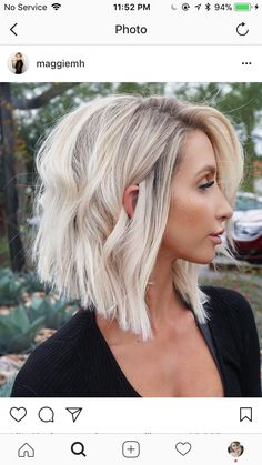 Blonde, blonde hair, hairstyle, bob, lob, haircut, blonde, bayalage