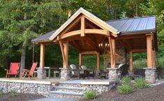 Timber Frame Pergolas & Pavilions | New Energy Works