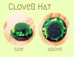 CloveR Hat (broach) Apple My, Handicraft, Pudding, Breakfast, Hats, Desserts, Handmade, Collection, Food