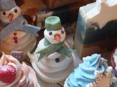 snowman soap cupcake