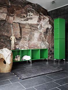 Live up your living room with Umami green. #montanafurniture #green #furniture #livingroom #storage