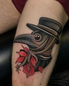 What does plague doctor tattoo mean? We have plague doctor tattoo ideas, designs, symbolism and we explain the meaning behind the tattoo. Black Tattoos, Body Art Tattoos, Sleeve Tattoos, Leg Tattoos, Mask Tattoo, Piercing Tattoo, Piercings, Tattoo Ink, Creepy Tattoos