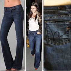"""COH Citizens Of Humanity Ingrid Low Waist Flair COH Citizens For Humanity Ingrid Low Waist Flare jeans sz 29  waist 32"""" (sits low on waist) hip 37.5""""  front rise 7""""  inseam 32.5""""  Content: 98% ctn 2% elastine. Wash: Med wash Made in USA  In excellent condition. No stains, tears or rips.  From a smoke/pet free home.   Ref# 374 Citizens of Humanity Jeans Flare & Wide Leg"""