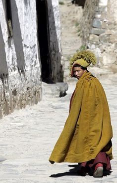 young monk in Tibet