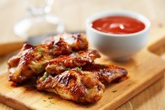 Brown Sugar Barbeque Baked Chicken Wings - Sweet, smokey and just a little spicy, the sauce for these wings comes together in 5 minutes and is crazy good! http://goodtaste.tv/recipes/showrecipe/display/brown-sugar-barbeque-baked-chicken-wings