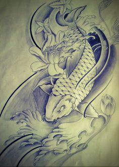 Half sleeve Koi Fish tattoo design by FingerPrint1404.deviantart.com on @deviantART