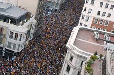 Демонстрация за независимость Каталонии