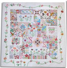 Green Tea and Sweet Beans - Pattern By Jen Kingwell - Quilted by Lynne Haley