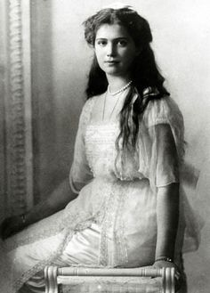 """Grand Duchess Maria Nikolaevna (1899 – 1918).  """"I was always afraid of the wings growing. I am glad to see she is only a human child."""" Nicholas II. She was a very good and sweet girl but in one ocassion (probably the only) she was caught stealing biscuits and her father said that."""