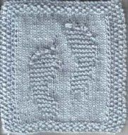 What a great wash cloth for baby.  Easy to knit free instructions