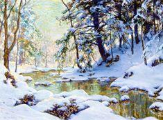 The Athenaeum - November Snow (Walter Launt Palmer - )