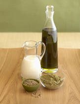 Hemp oil honey mustard salad dressing