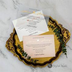 elegant lovely heart rose gold foiling vellum wedding invites SWFI022 #wedding#weddinginvitations#stylishwedd#stylishweddinvitations #vellumweddinginvitations