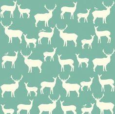 Elk Family pool Organic Cotton KNIT by Birch Fabrics - interlock jersey yard Deer Fabric, Cool Fabric, Stag Animal, Family Pool, Cedar Homes, Elk Grove, Modes4u, Woodland Animals, Fabric Design