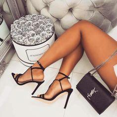 Stilettos and Stocking Tops: Photo Perfect Legs, Great Legs, Beautiful Legs, Sexy Legs And Heels, Hot High Heels, Womens High Heels, Stilettos, Strappy Heels, Stiletto Heels