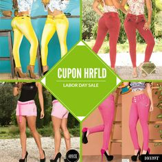 Www.hotredfashion.com Labor day super sale  25% off to 9/4/17 Coupon HRFLD #denim #moda #fashion #jeans #levantacolas #pink #yellow #buttlifing #clothes #latinas
