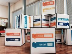 This is a great activity to get students interested in coding. Coding Dice created for Robots Dash and Dot in classroom STEM explorations (the digital scoop) Dash And Dot Robots, Dash Robot, Stem Robotics, Robotics Club, Computer Lab Lessons, Computer Science, Stem Curriculum, Computational Thinking, Coding For Kids