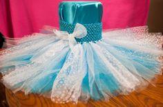 Frozen Tutu, Princess Elsa, Snow Princess, Frozen Costume, Frozen Party, Winter Wonderland Tutu, Blue and White Tutu, Disney Frozen, $42.00