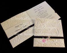elegant wedding invitations with crystals | Wedding Invitations