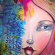 Some journaling. Eye inspired by mermaid @Jane Izard Izard Davenport x