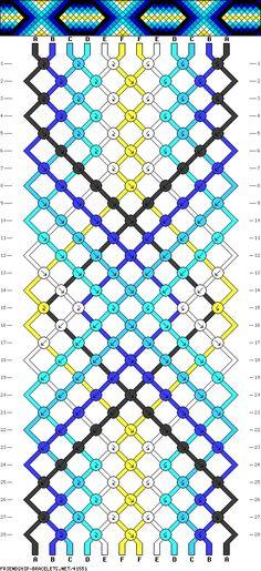 12 strings, 6 colors, 28 rows