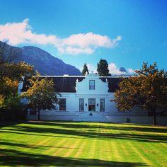 Lanzerac wine estate in stellenbosch, South Africa